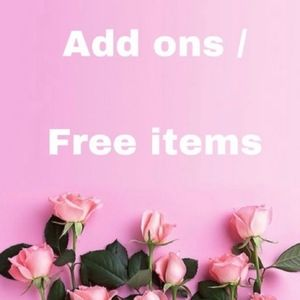 Free With Any Purchase items!